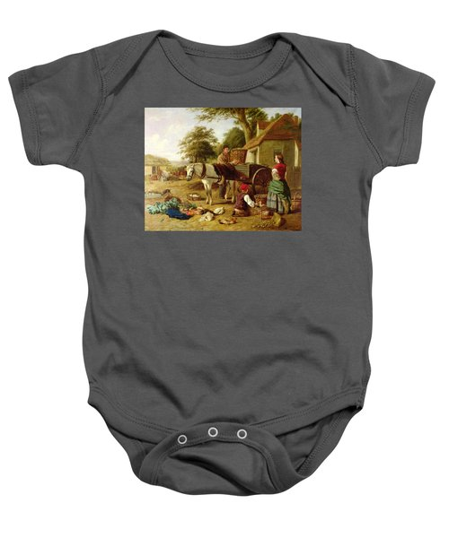 The Market Cart Baby Onesie by Henry Charles Bryant