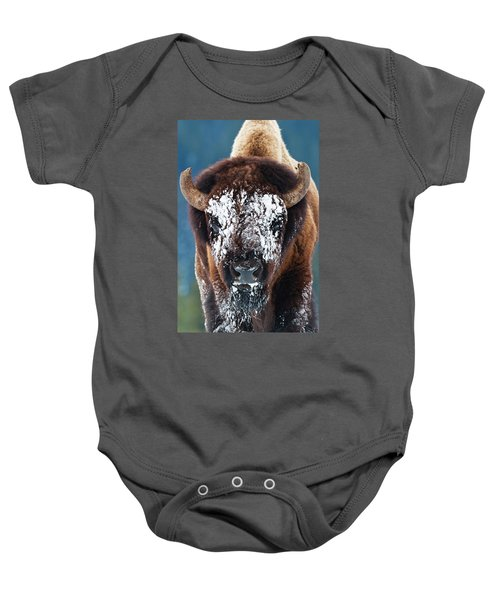 The Masked Bison Baby Onesie