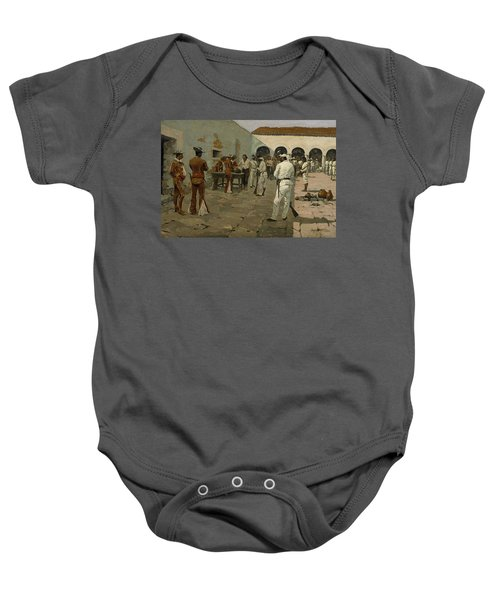 The Mier Expedition The Drawing Of The Black Bean  Baby Onesie