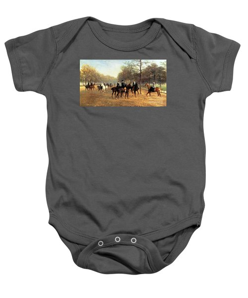 The Morning Ride Rotten Row Hyde Park Baby Onesie by Heywood Hardy