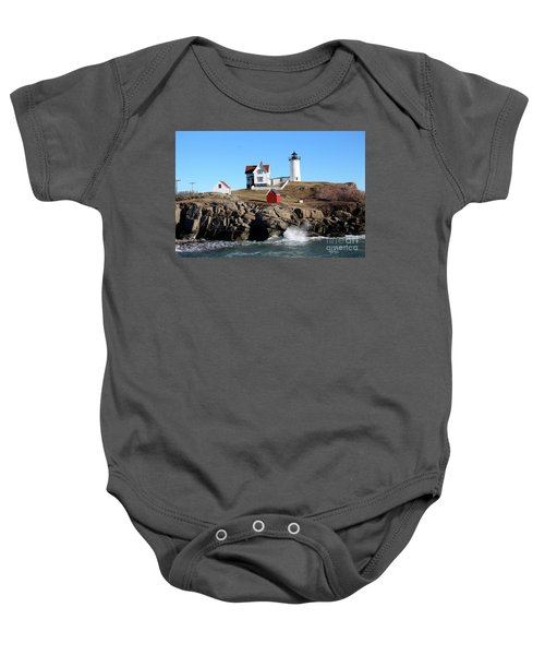 The Nubble Lighthouse  Baby Onesie