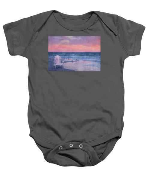 The Old Beach Chair Baby Onesie