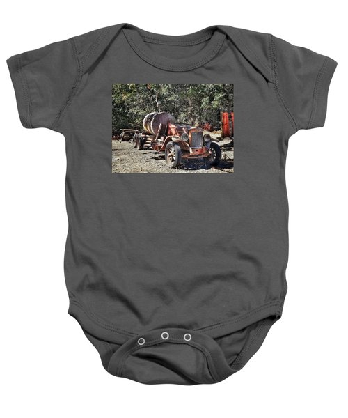 The Old Jalopy In Wine Country, California  Baby Onesie