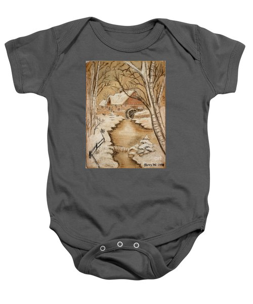 The Old Mill By George Perry Wood 1941 Baby Onesie