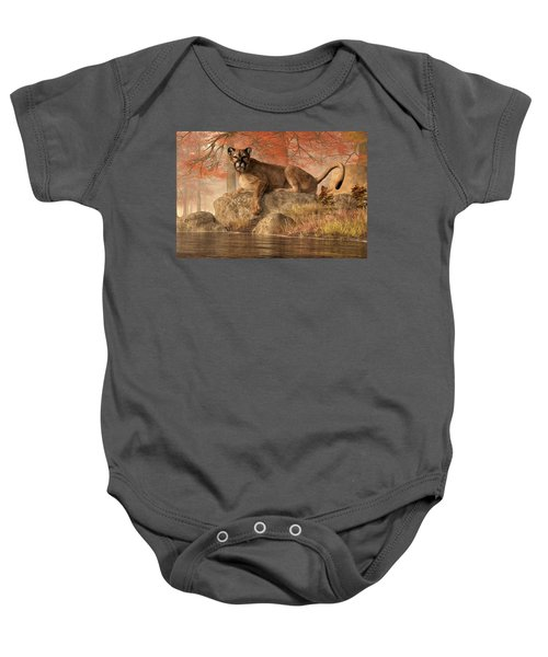 The Old Mountain Lion Baby Onesie