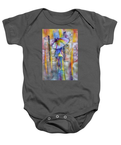 The Other Girl In The City Baby Onesie