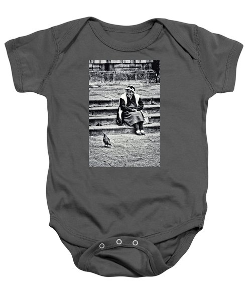 The Peruvian Lady Black And White Baby Onesie