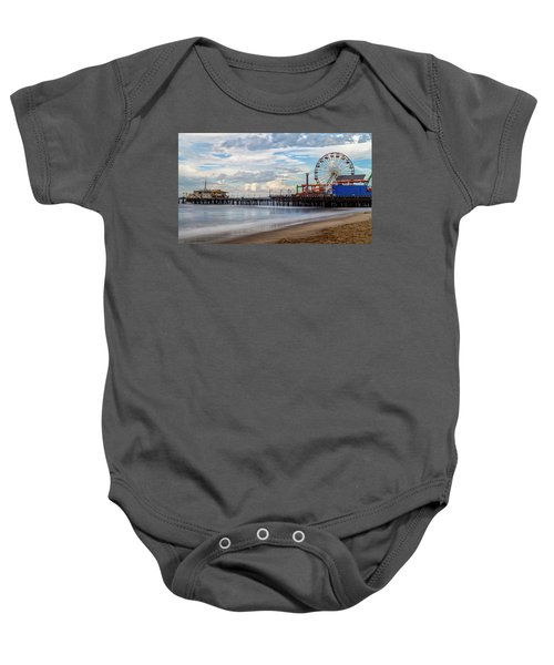 The Pier On A Cloudy Day Baby Onesie