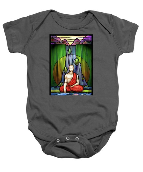 The Praying Monk Baby Onesie