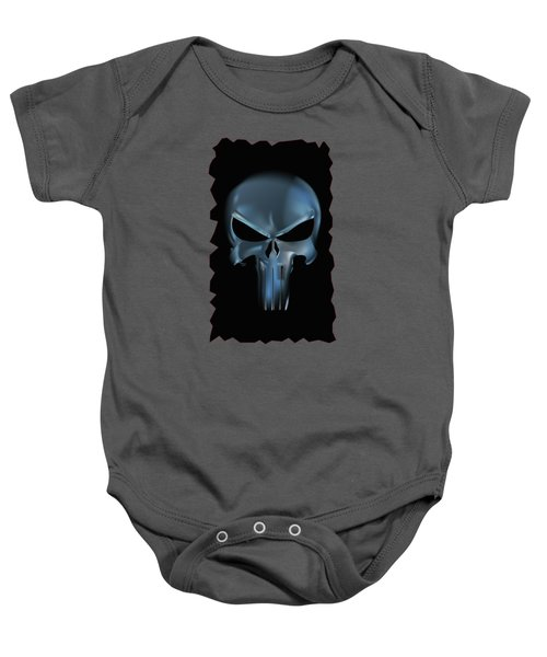 The Punisher Scary Face Baby Onesie