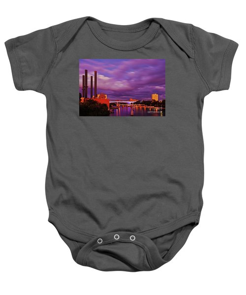 Baby Onesie featuring the photograph The Purple People Eaters Of Minneapolis, Minnesota by Sam Antonio Photography