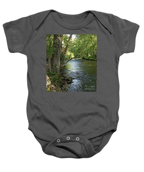 The Quiet Waters Flow Baby Onesie