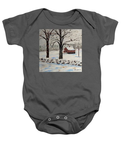 The Red Barn Baby Onesie