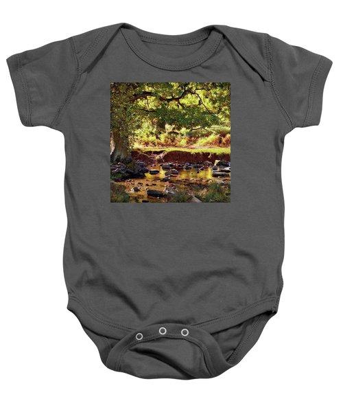 The River Lin , Bradgate Park Baby Onesie