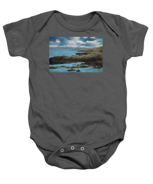 The Rocky Maine Coast. Baby Onesie