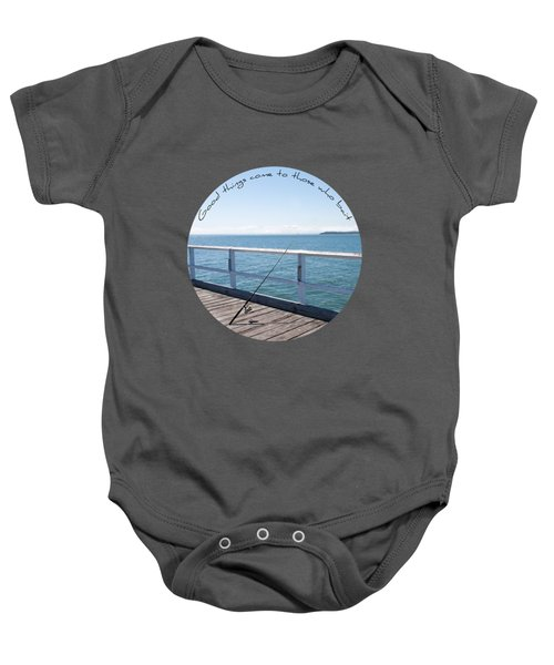 Baby Onesie featuring the photograph The Rod by Linda Lees