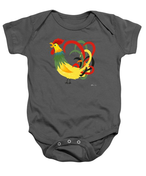 The Rooster Stands Alone Baby Onesie
