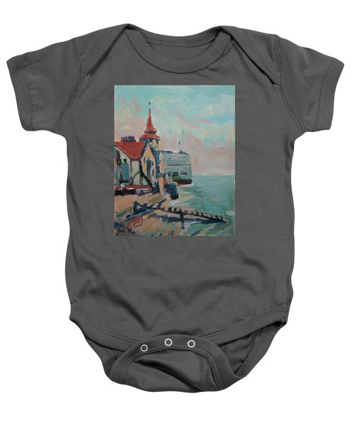 The Round Tower Of Portsmouth Baby Onesie