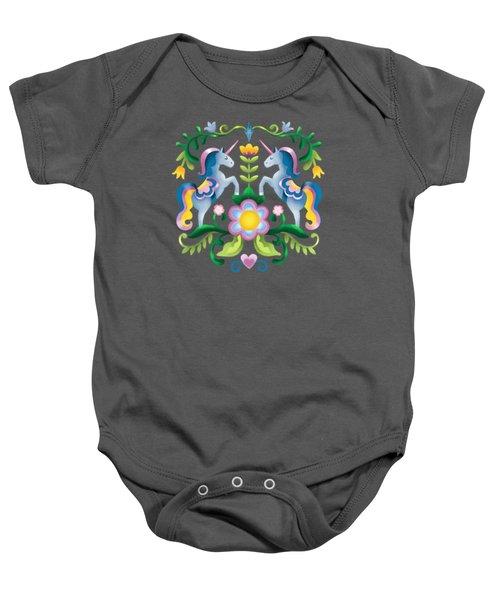 The Royal Society Of Cute Unicorns Baby Onesie