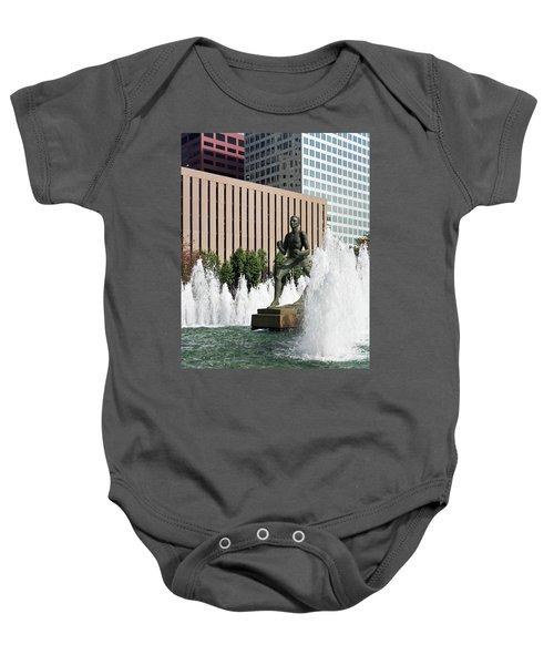 The Runner Sculpture Baby Onesie