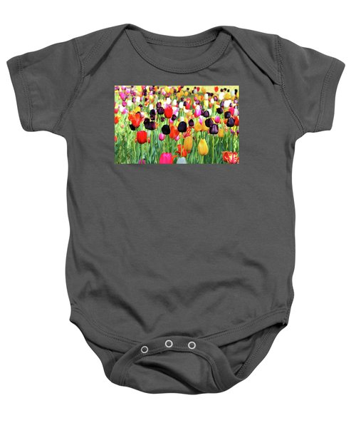 The Season Of Tulips Baby Onesie
