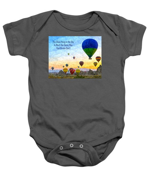 The Ships Hung In The Sky Baby Onesie