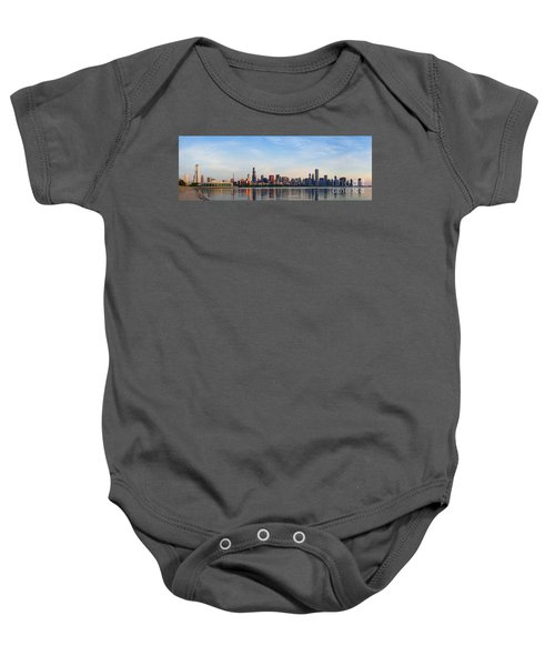 The Skyline Of Chicago At Sunrise Baby Onesie
