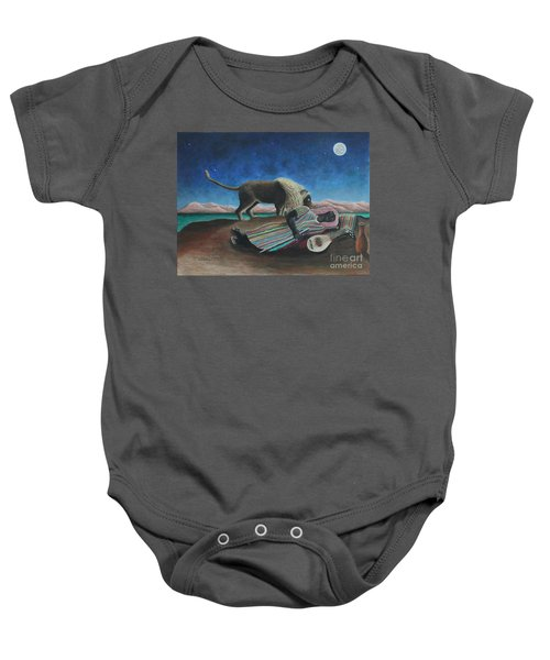 The Sleeping Gypsy  Baby Onesie