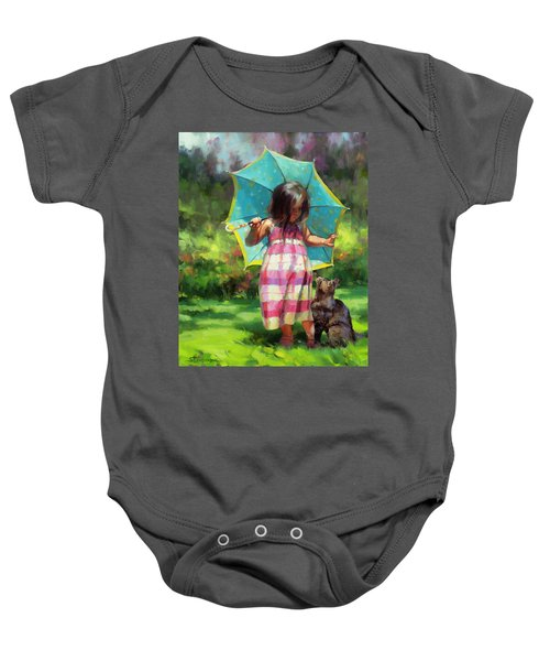 The Teal Umbrella Baby Onesie