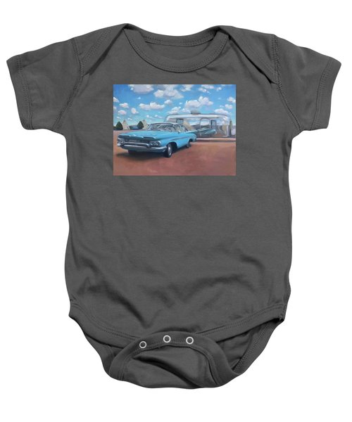 The Teepee Motel, Route 66 Baby Onesie