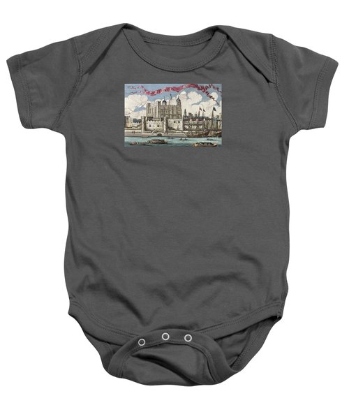 The Tower Of London Seen From The River Thames Baby Onesie by English School