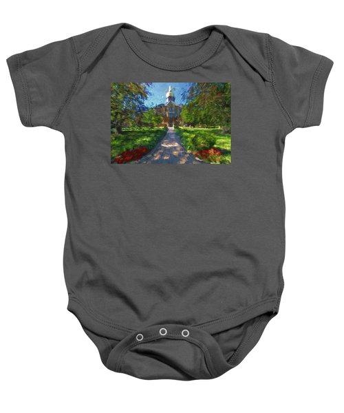 The University Of Notre Dame Baby Onesie