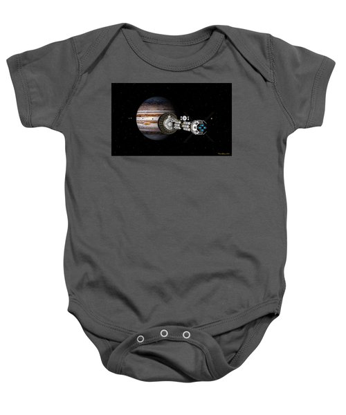 The Uss Savannah Nearing Jupiter Baby Onesie