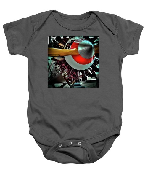 Baby Onesie featuring the photograph The Vintage Stearman C-3b Biplane by David Patterson