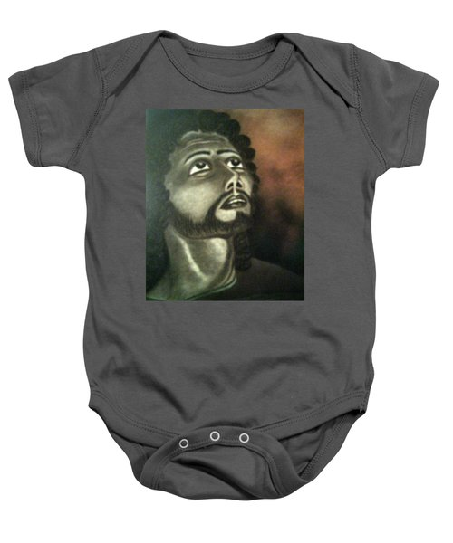 The Vision Of St. Christopher Baby Onesie