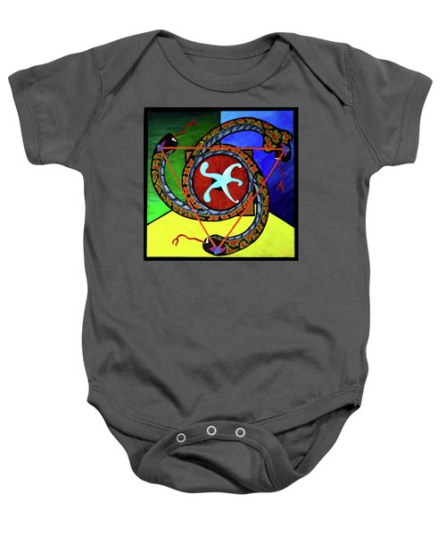 The Vitruvian Serpent Baby Onesie