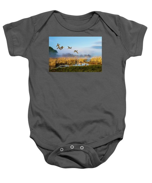 The Wetlands Crop Baby Onesie