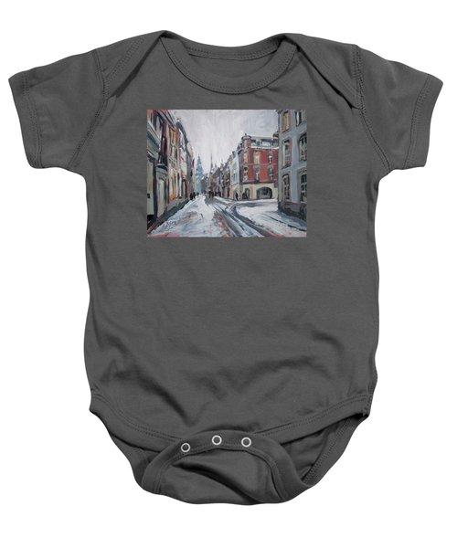The White Grand Canal Street Maastricht Baby Onesie by Nop Briex
