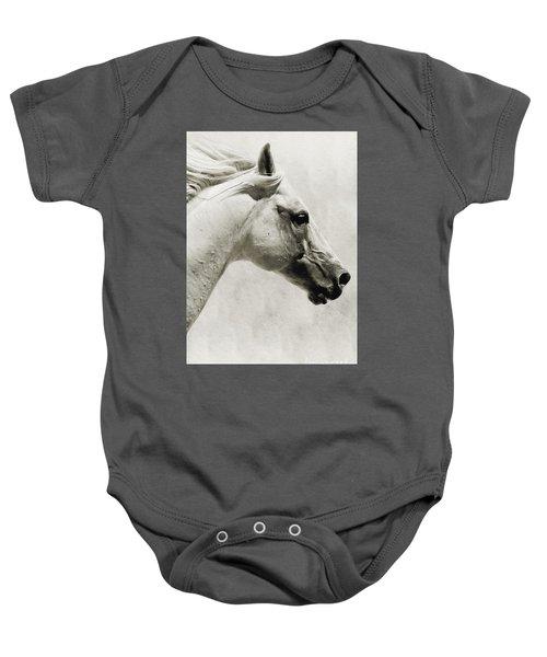 The White Horse IIi - Art Print Baby Onesie