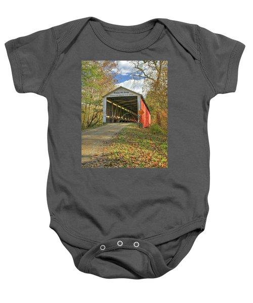 The Wilkins Mill Covered Bridge Baby Onesie