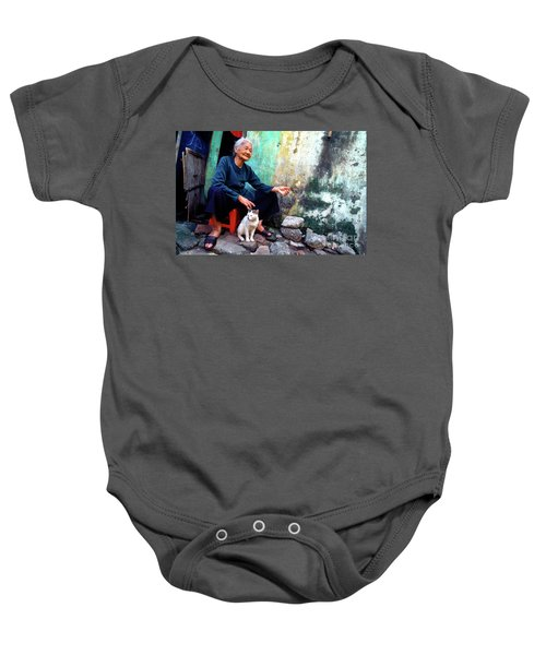 The Woman And The Cat Baby Onesie