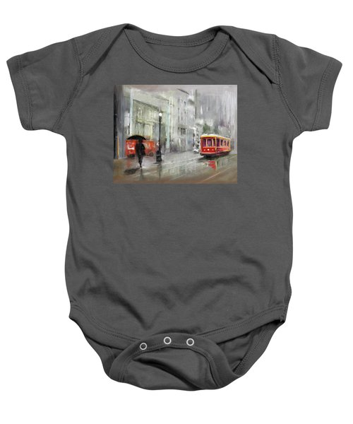 The Woman In The Rain Baby Onesie