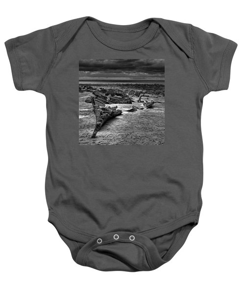 The Wreck Of The Steam Trawler Baby Onesie by John Edwards