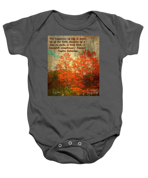 The Happiness Of Life By Taylor Coleridge Baby Onesie