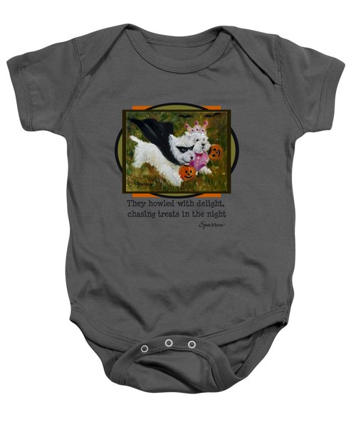 They Howled With Delight Baby Onesie
