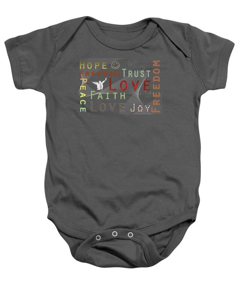Think Positive Baby Onesie by Jutta Maria Pusl