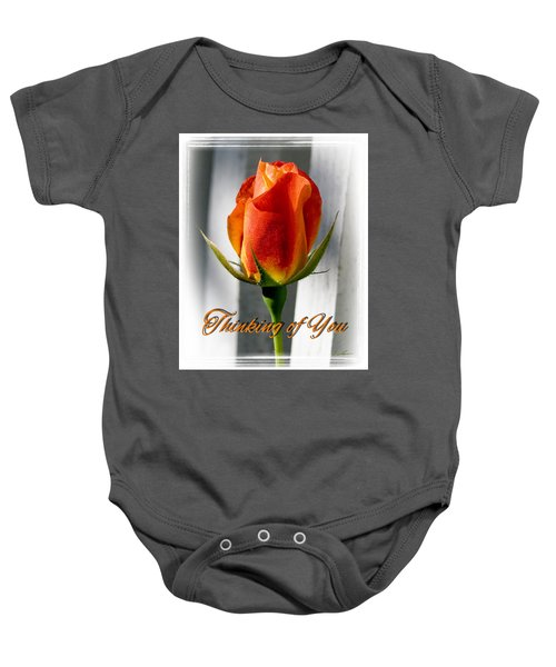 Thinking Of You, Rose Baby Onesie