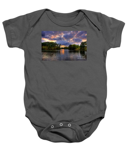 Thomas Lake Park In Eagan On A Glorious Summer Evening Baby Onesie