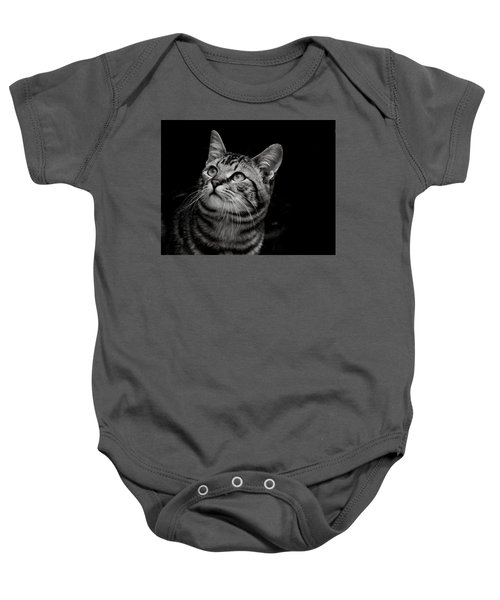 Thoughtful Tabby Baby Onesie