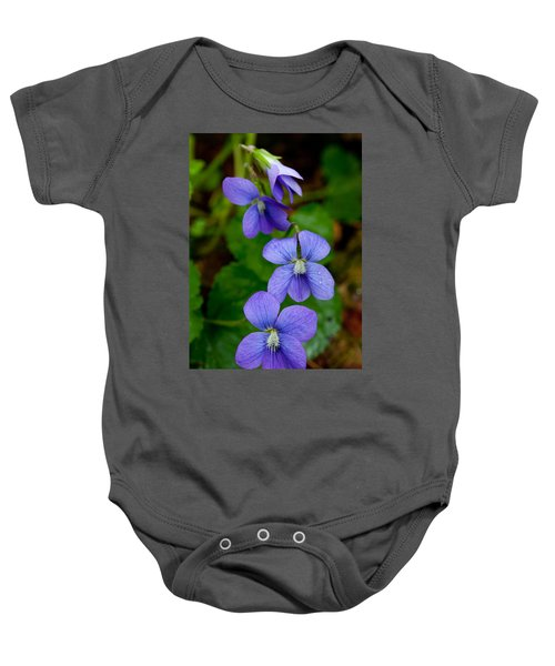 Three For The Show Baby Onesie